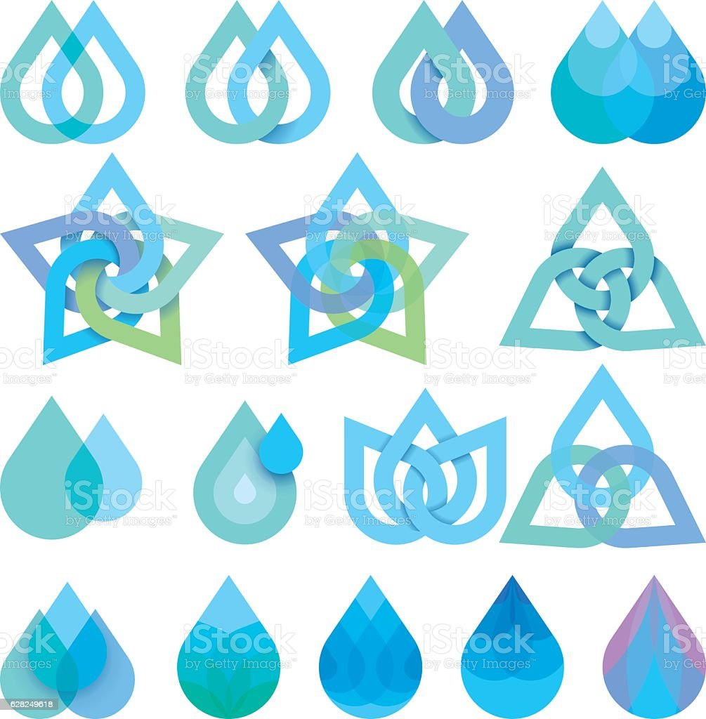 droplets vector art illustration