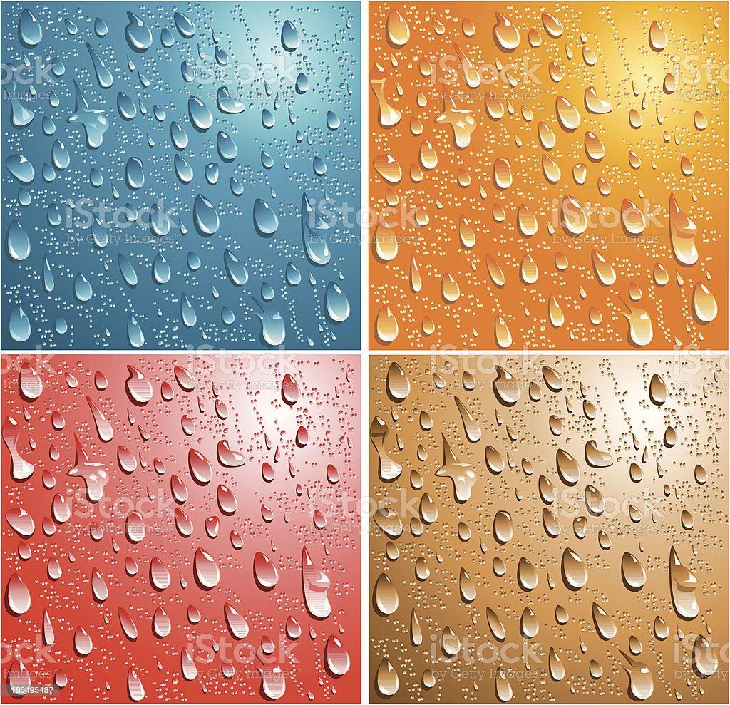 Droplets - VECTOR royalty-free stock vector art