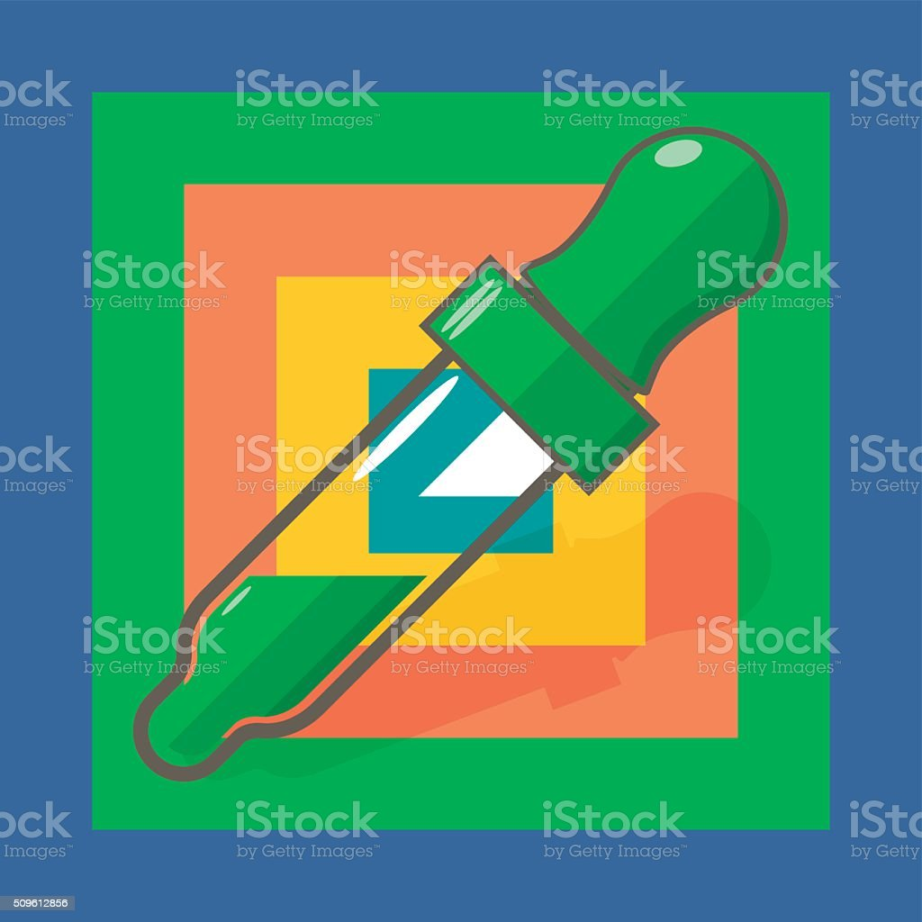 Dropper and Color Picker vector art illustration
