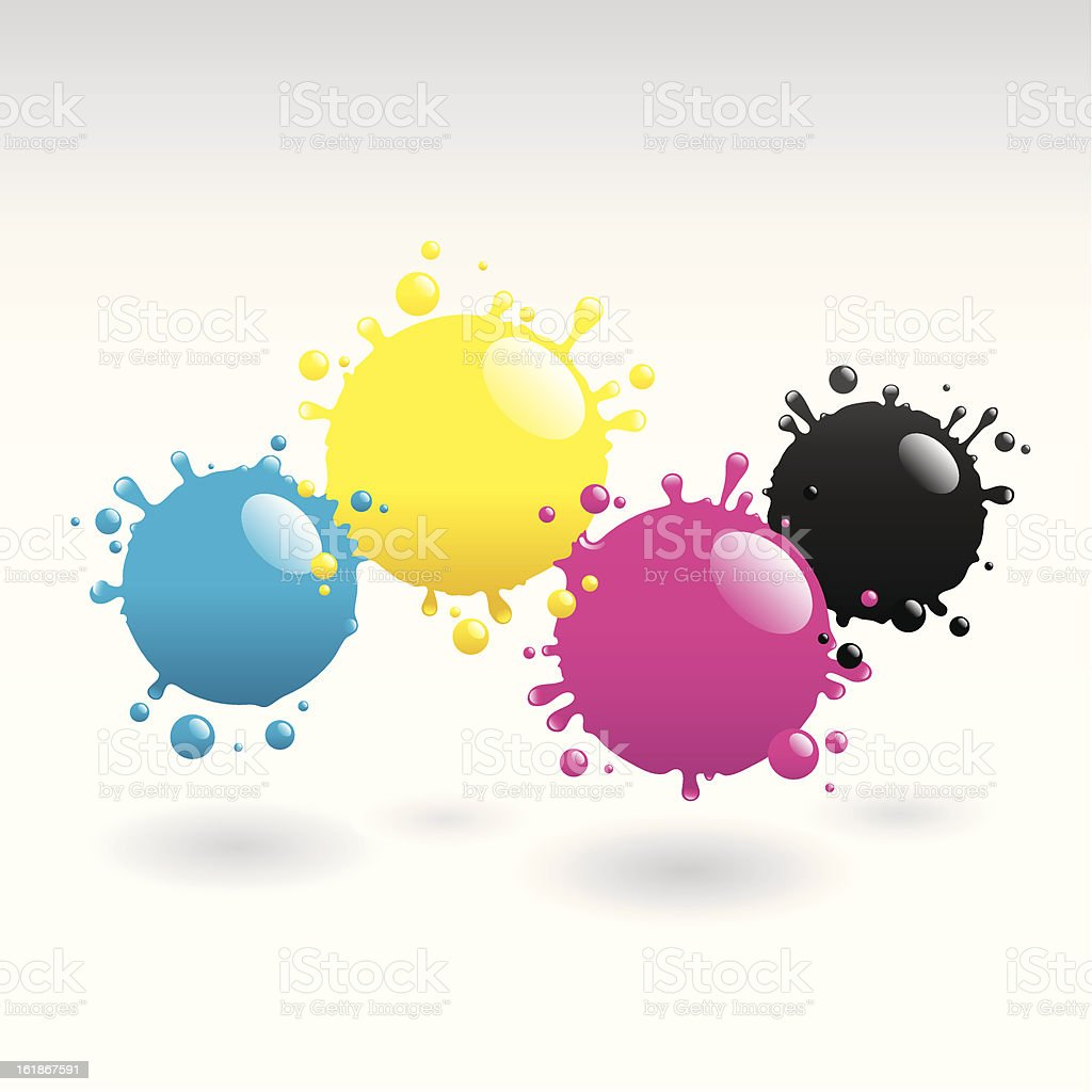 CMYK Drops background vector art illustration