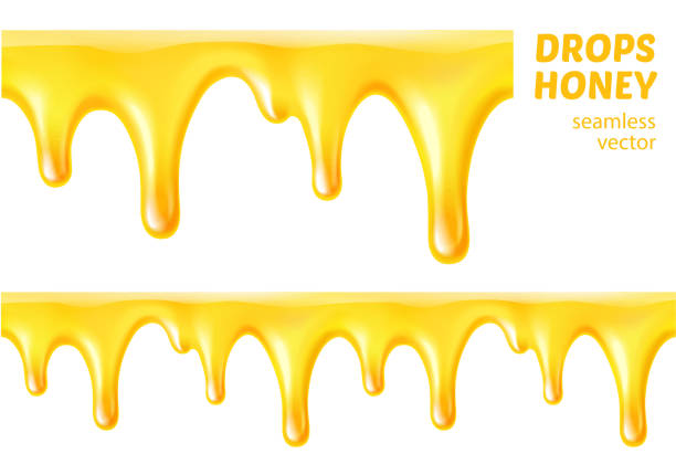 Vector Realistic Dripping Honey Clip Art, Vector Images
