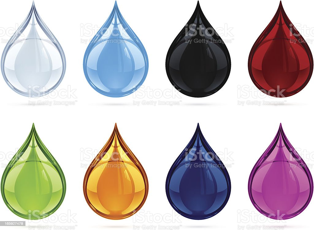 Drops royalty-free stock vector art