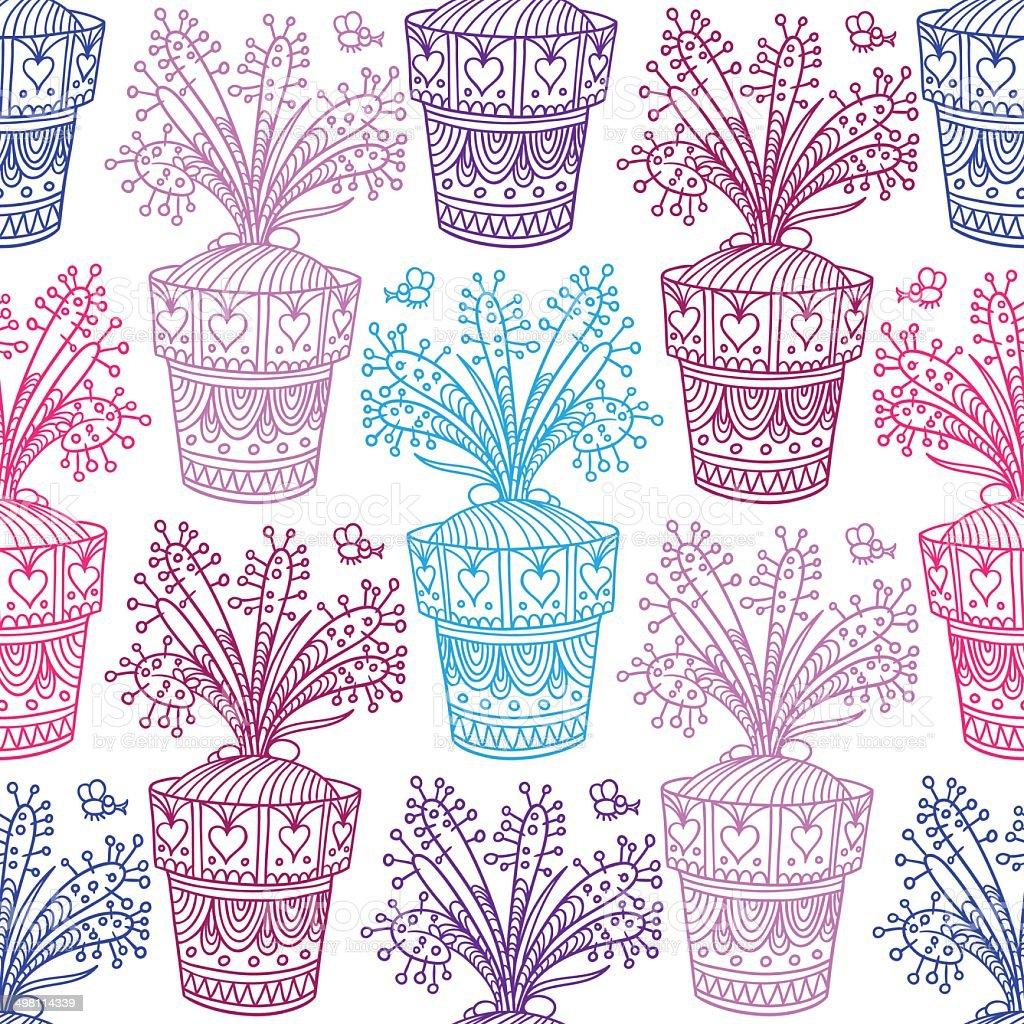 Drosera pattern vector art illustration