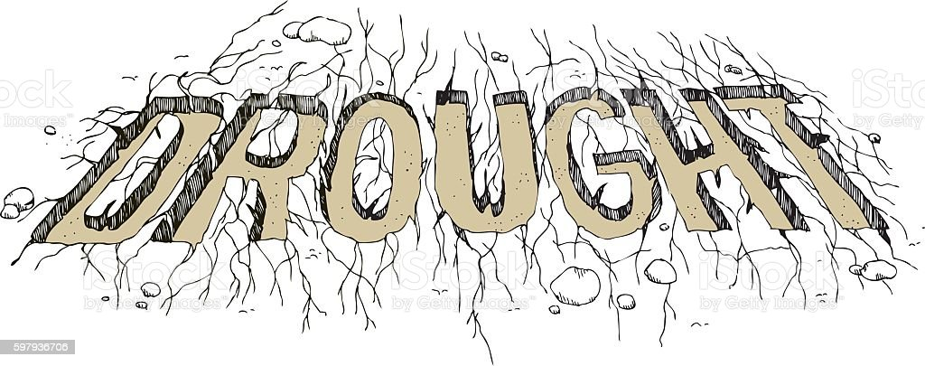 Drought Pen And Ink vector art illustration