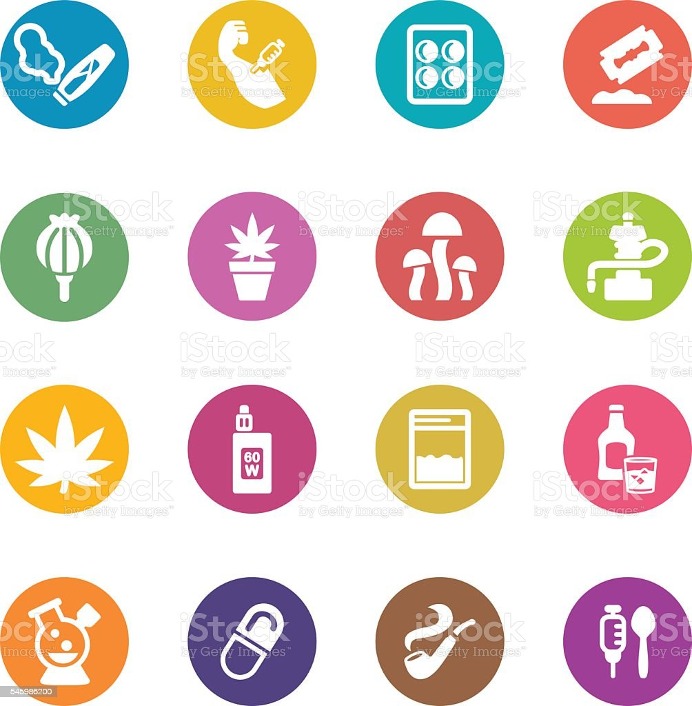 Drug Circle Colour Harmony icons | EPS10 vector art illustration