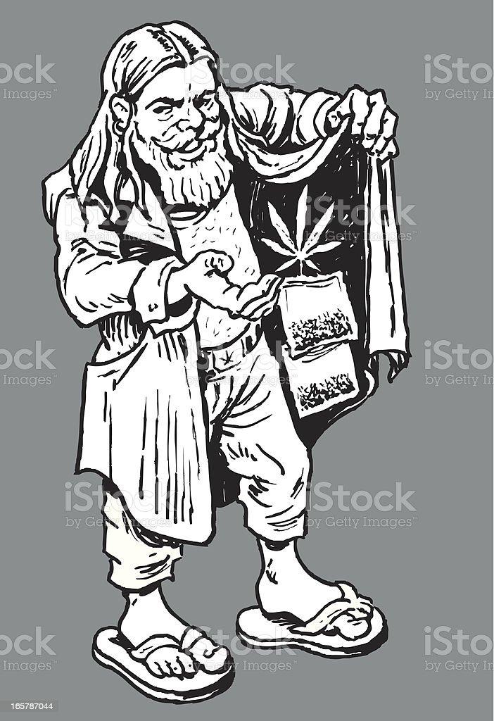 Drug Dealer or Marijuana Pusher royalty-free stock vector art