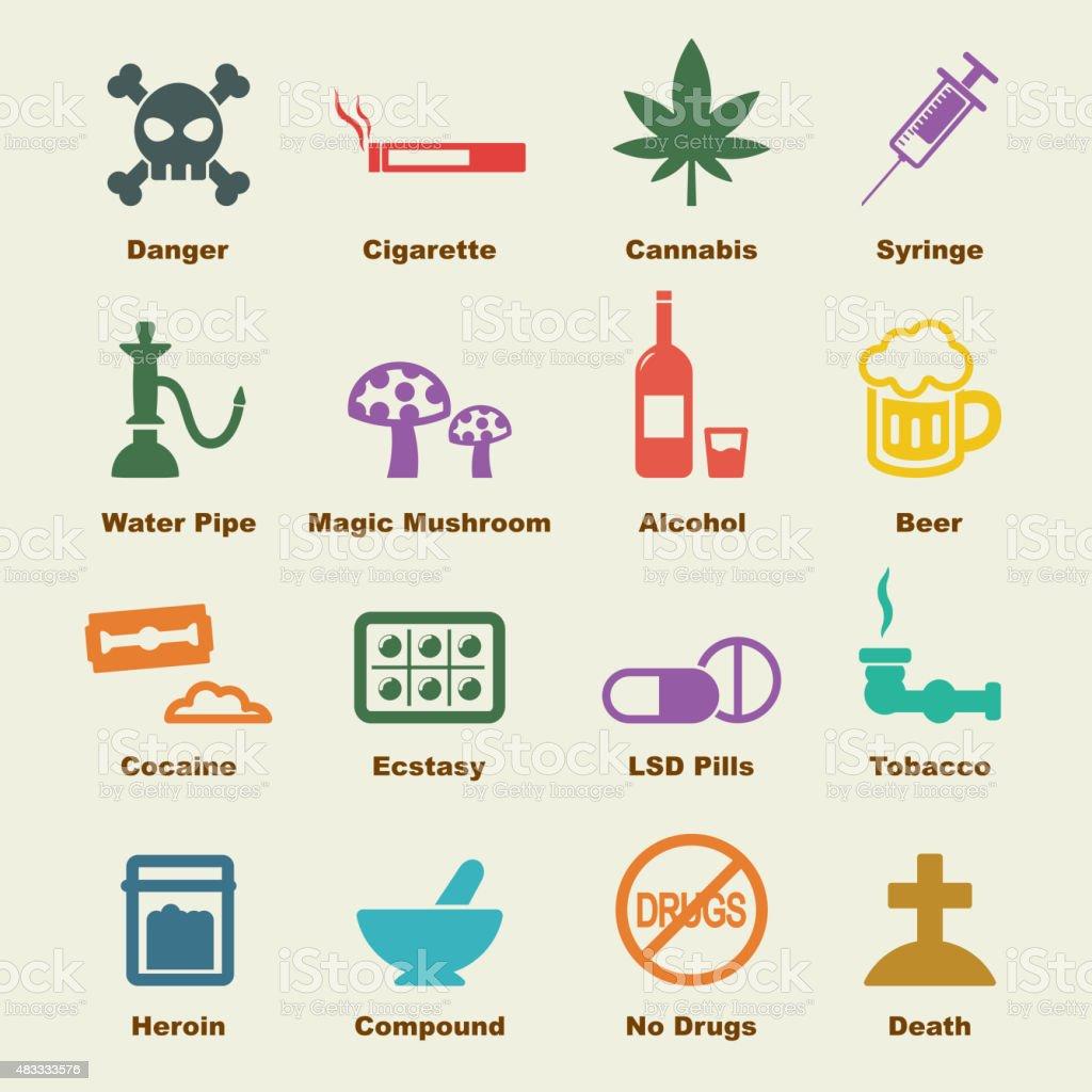 drug elements vector art illustration