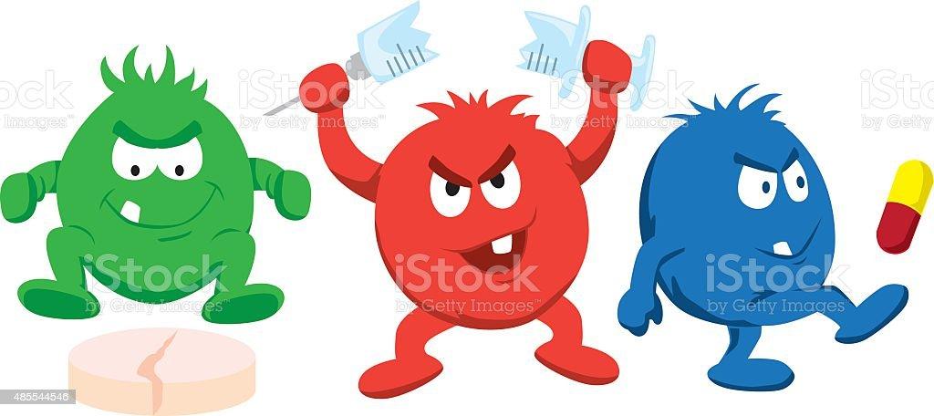 drug resistant diseases vector art illustration