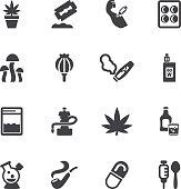 Drug Silhouette icons | EPS10