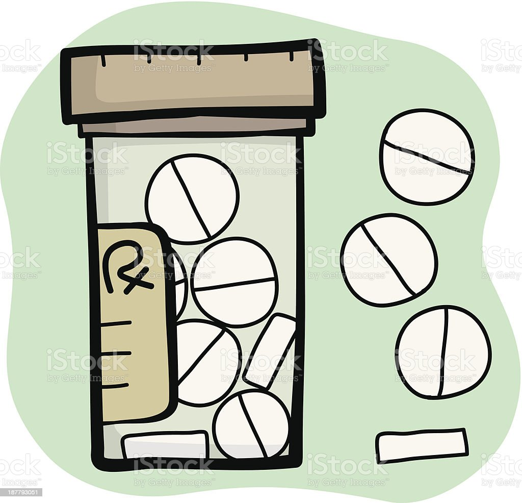 drug tablet and bottle royalty-free stock vector art