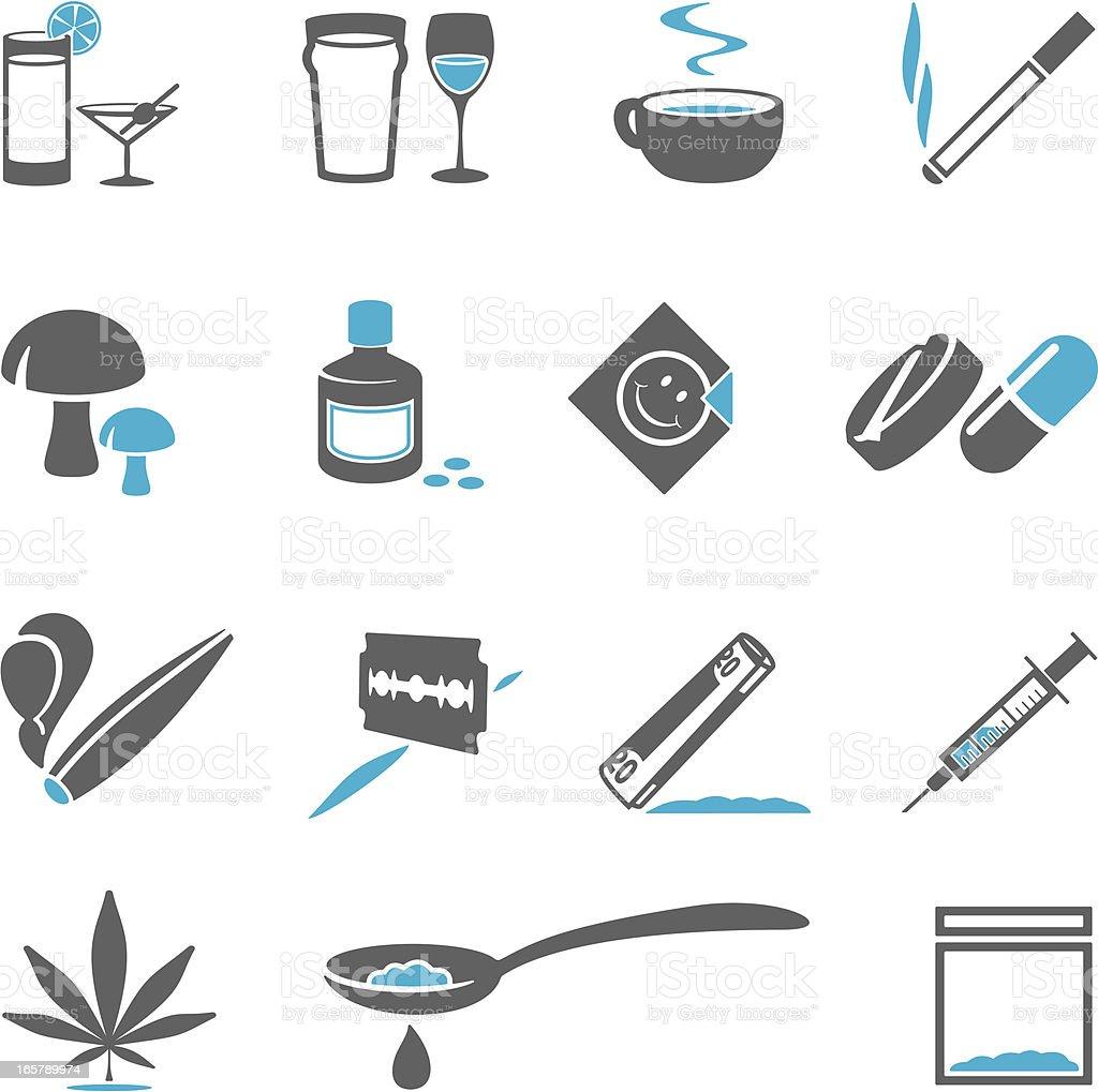 Drugs Icons vector art illustration