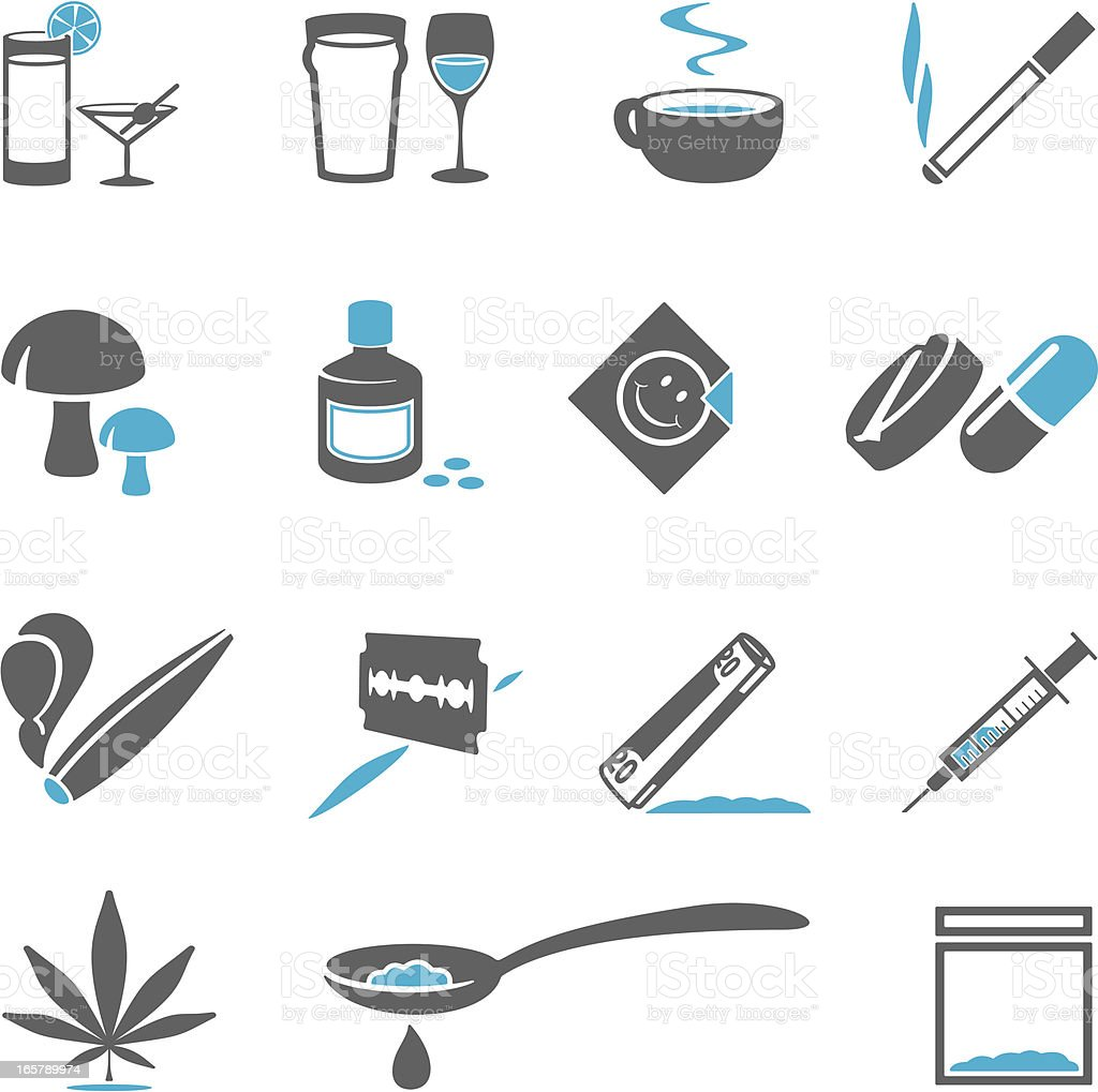 Drugs Icons vector art illustration