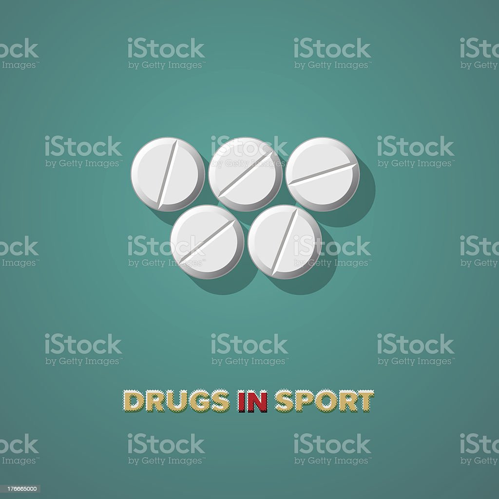Drugs in sport royalty-free stock vector art