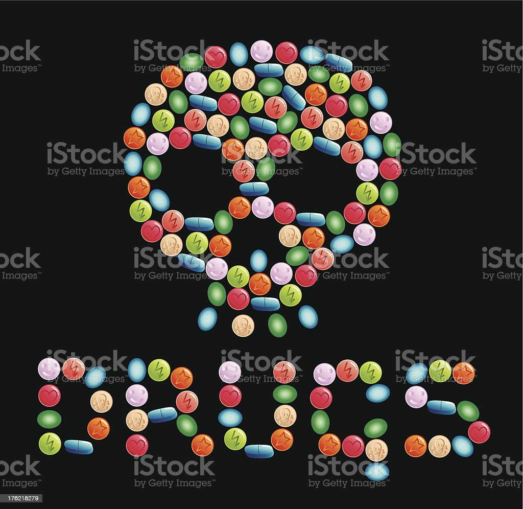drugs royalty-free stock vector art