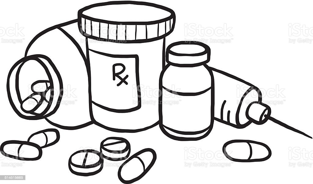 coloring pages medicine bottle - photo#24