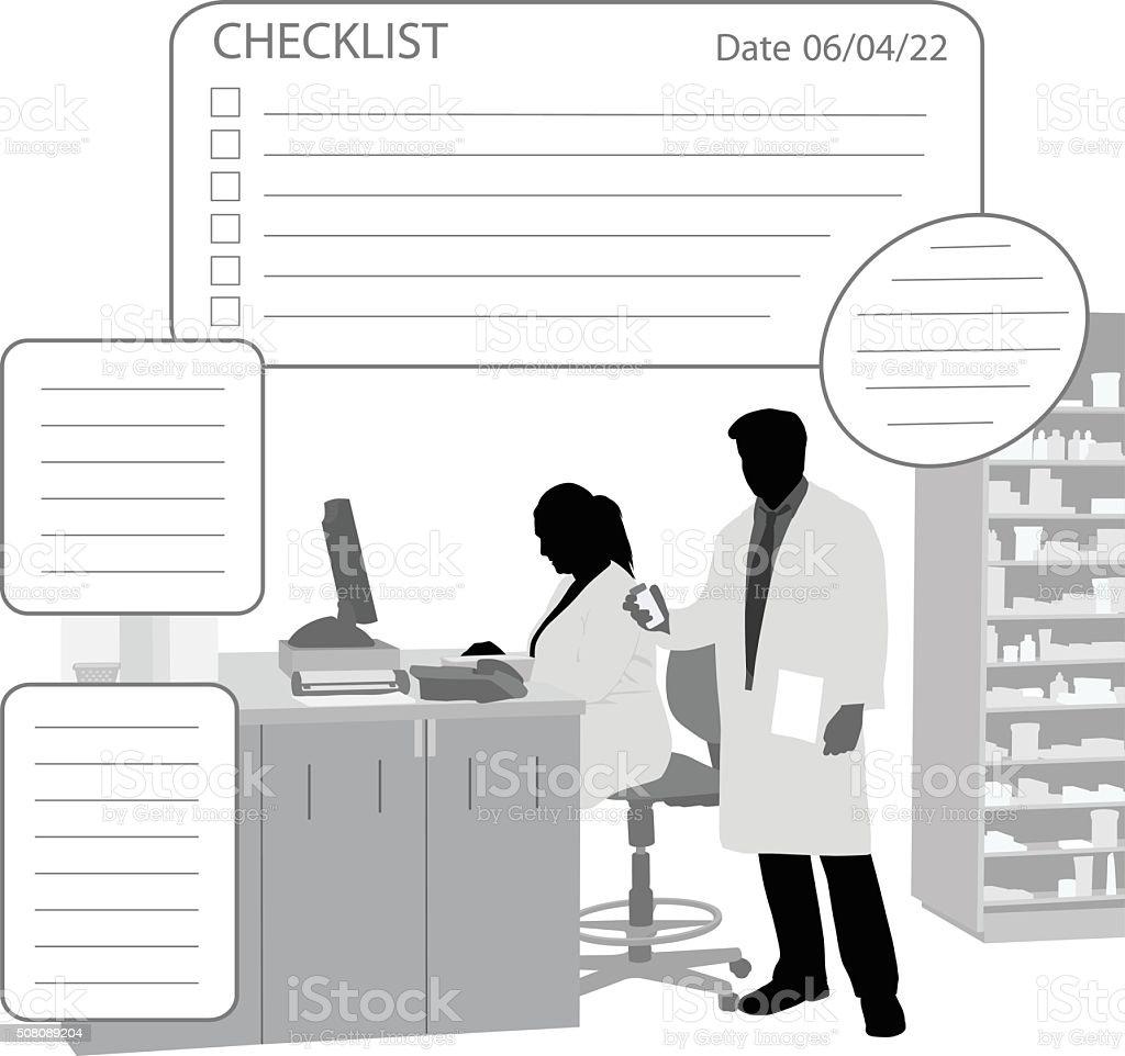 Drugstore Prescriptions vector art illustration