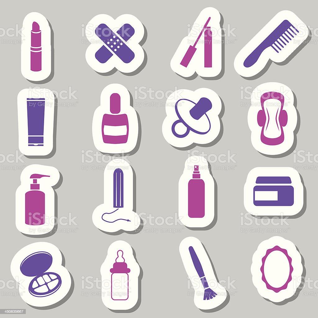 drugstore stickers vector art illustration