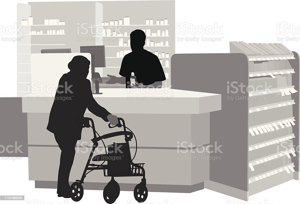 Drugstore royalty-free stock vector art