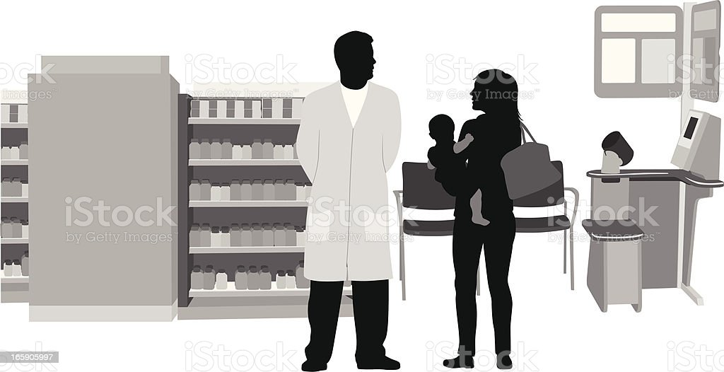 Drugstore Vector Silhouette royalty-free stock vector art
