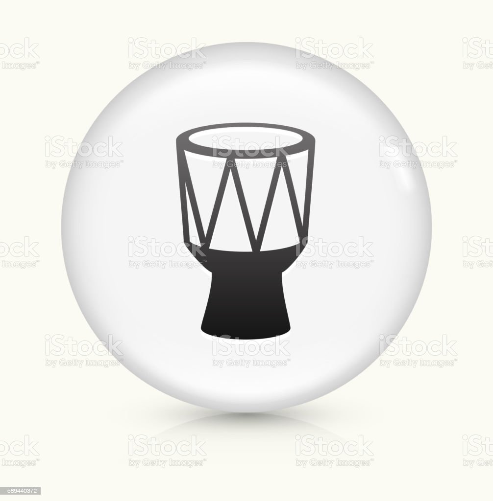 Drum icon on white round vector button vector art illustration