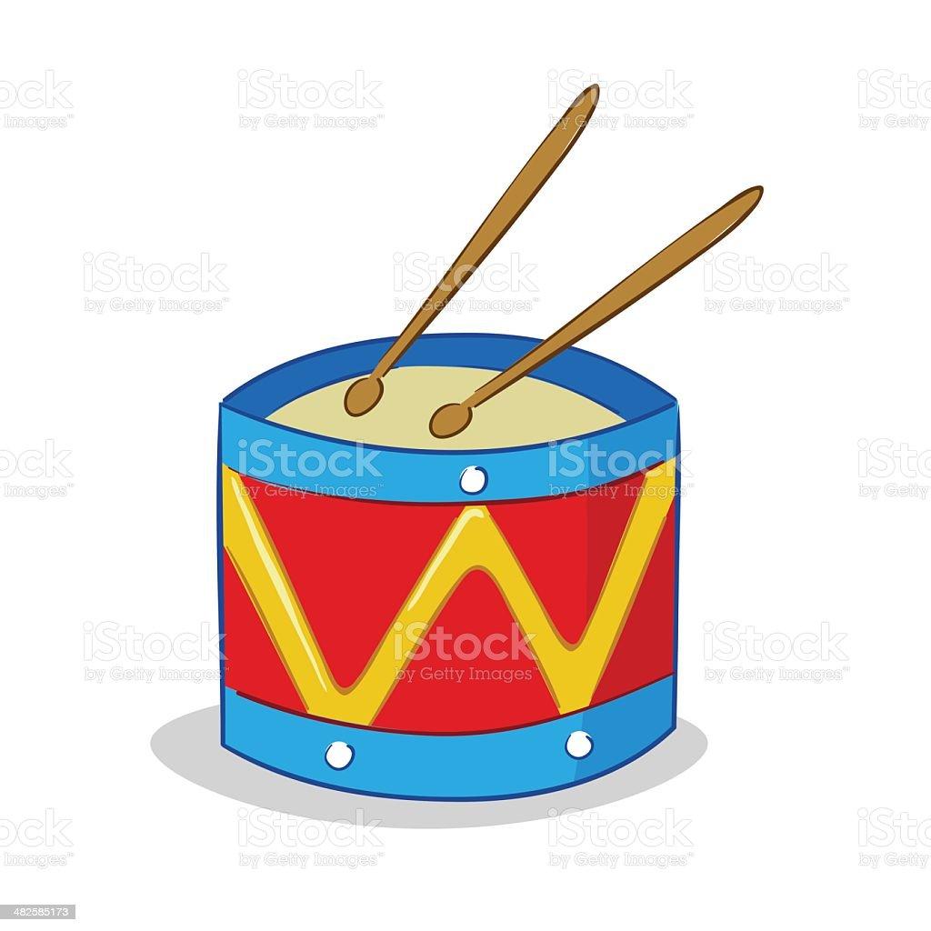 Drum Illustration royalty-free stock vector art