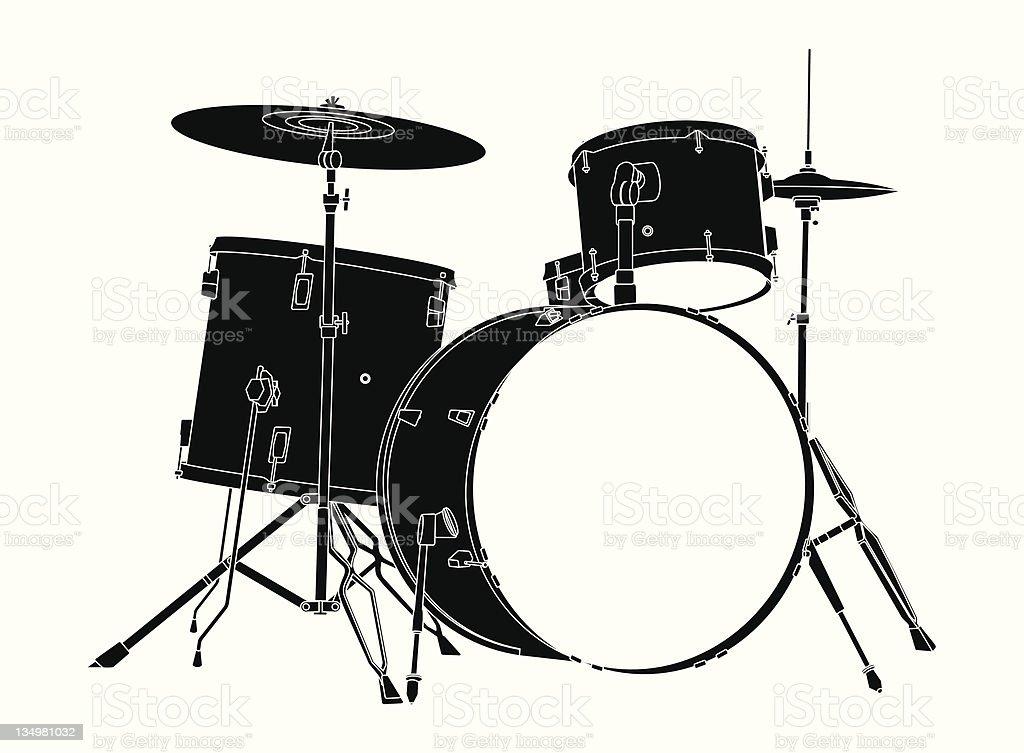 Drum Kit. vector art illustration
