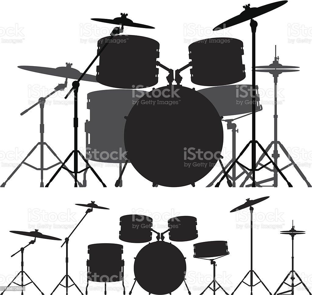 Drum Kit vector art illustration