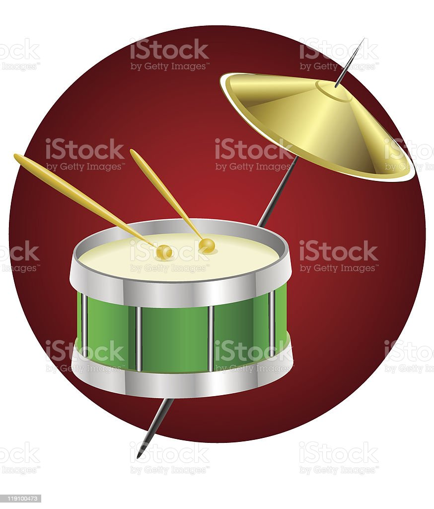 drum music instrument royalty-free stock vector art