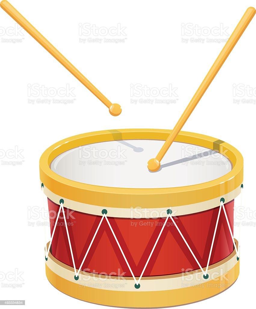 Drum. Music instrument vector art illustration