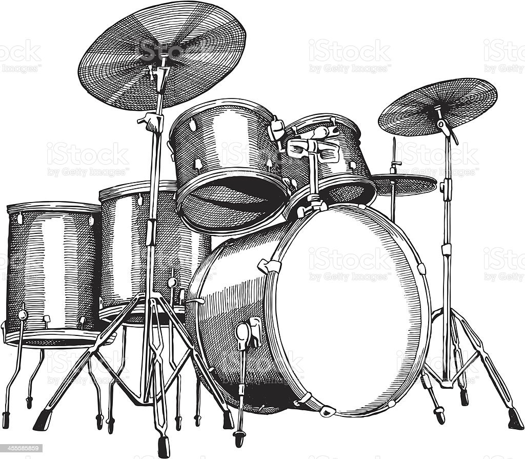Drum Set vector art illustration