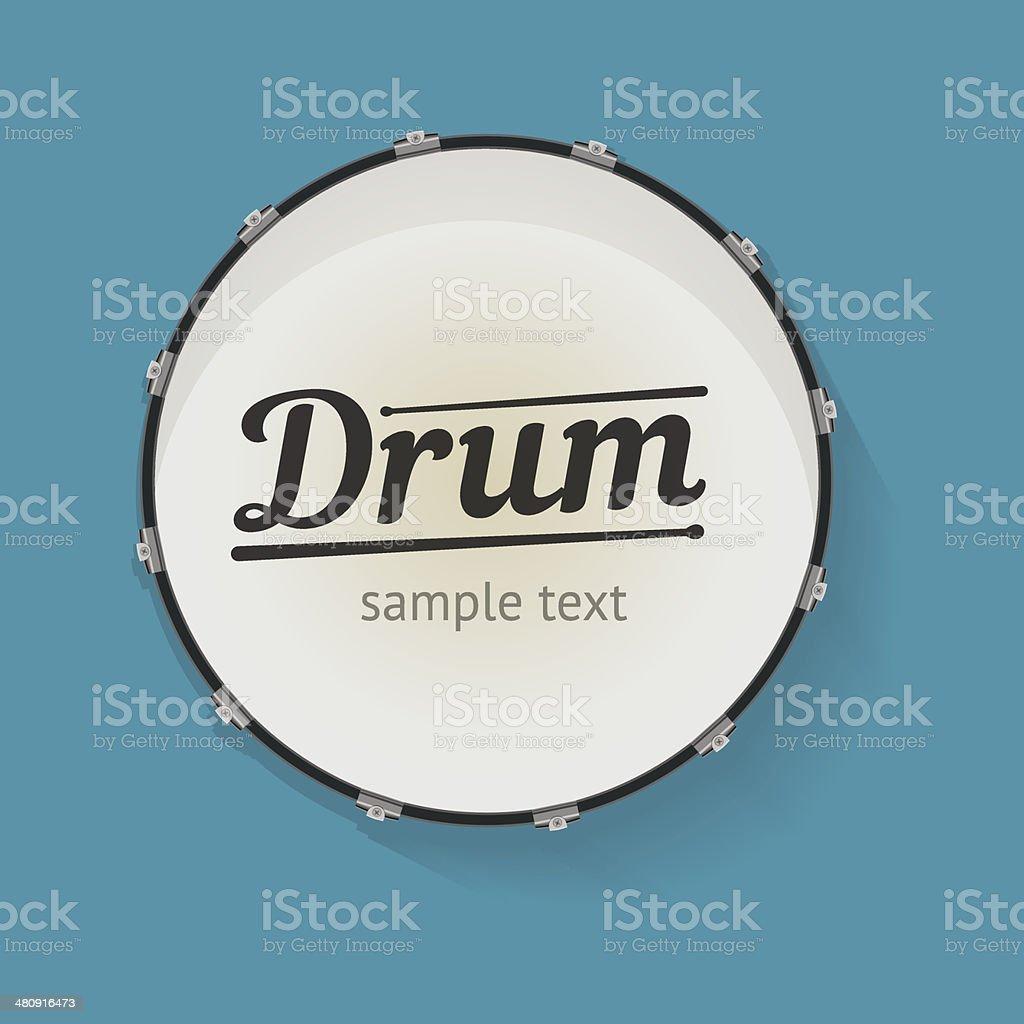 drum vector art illustration