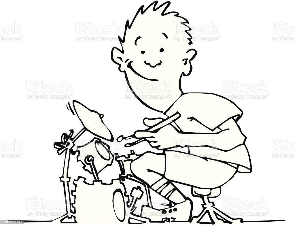 Drummer Boy royalty-free stock vector art