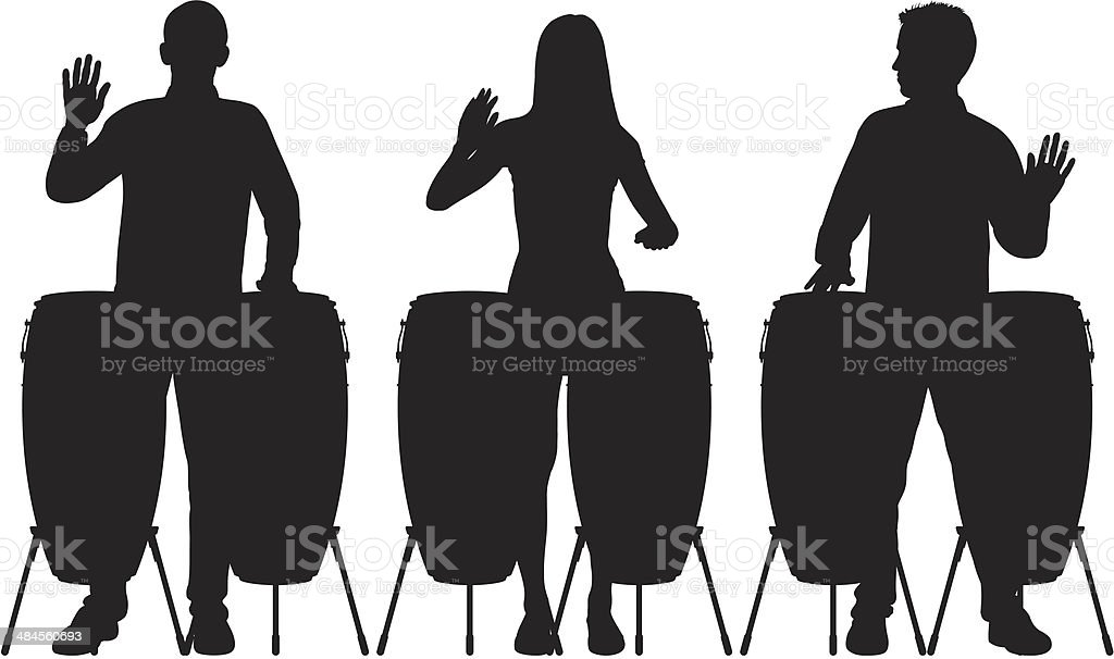 Drums vector art illustration