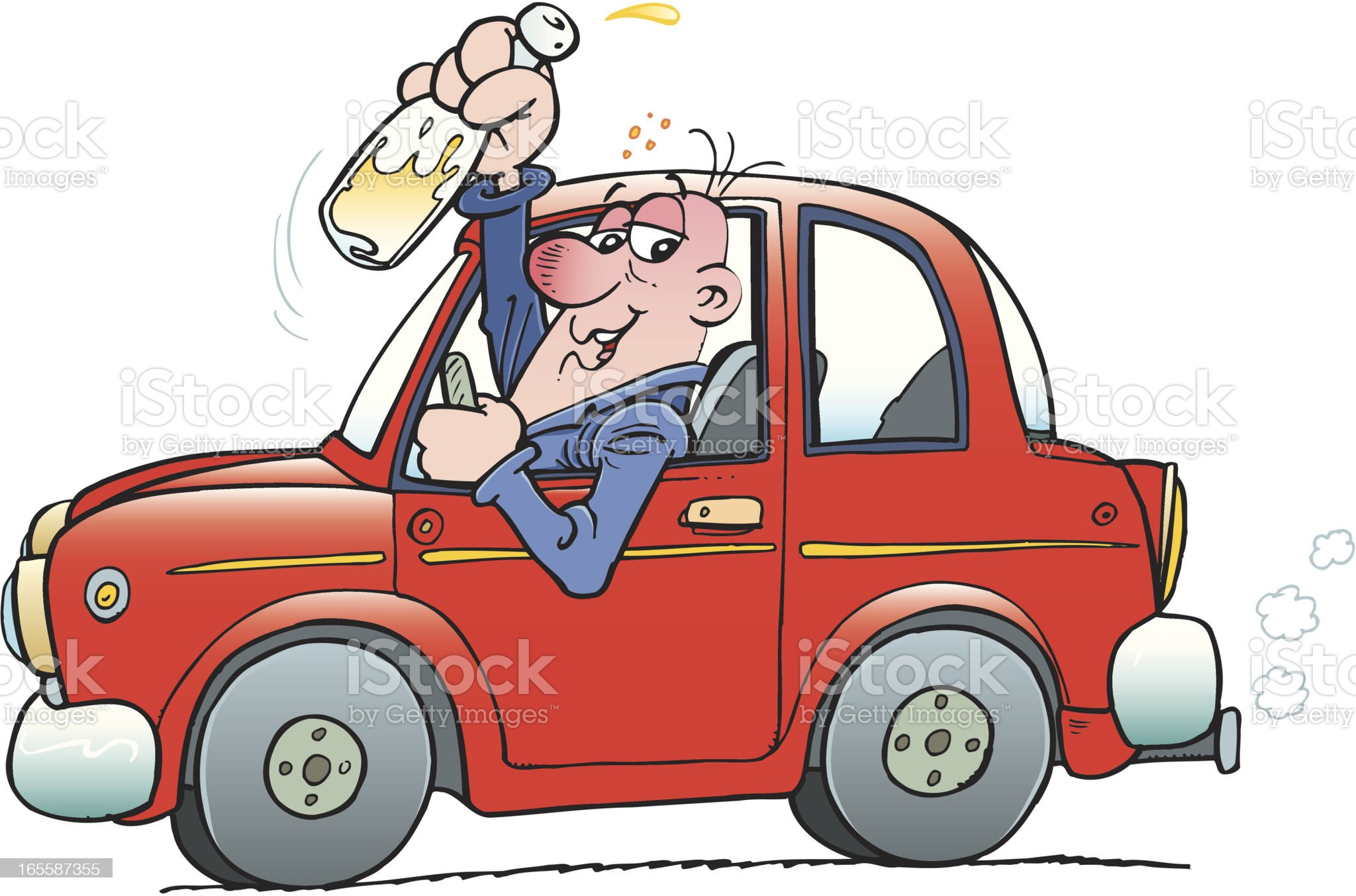 Drunk driver royalty-free stock vector art