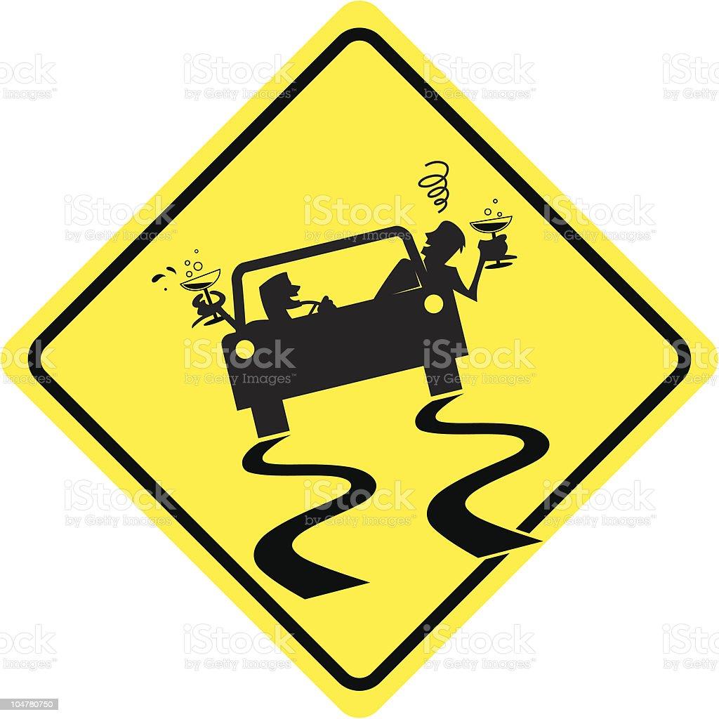 Drunk driving vector art illustration