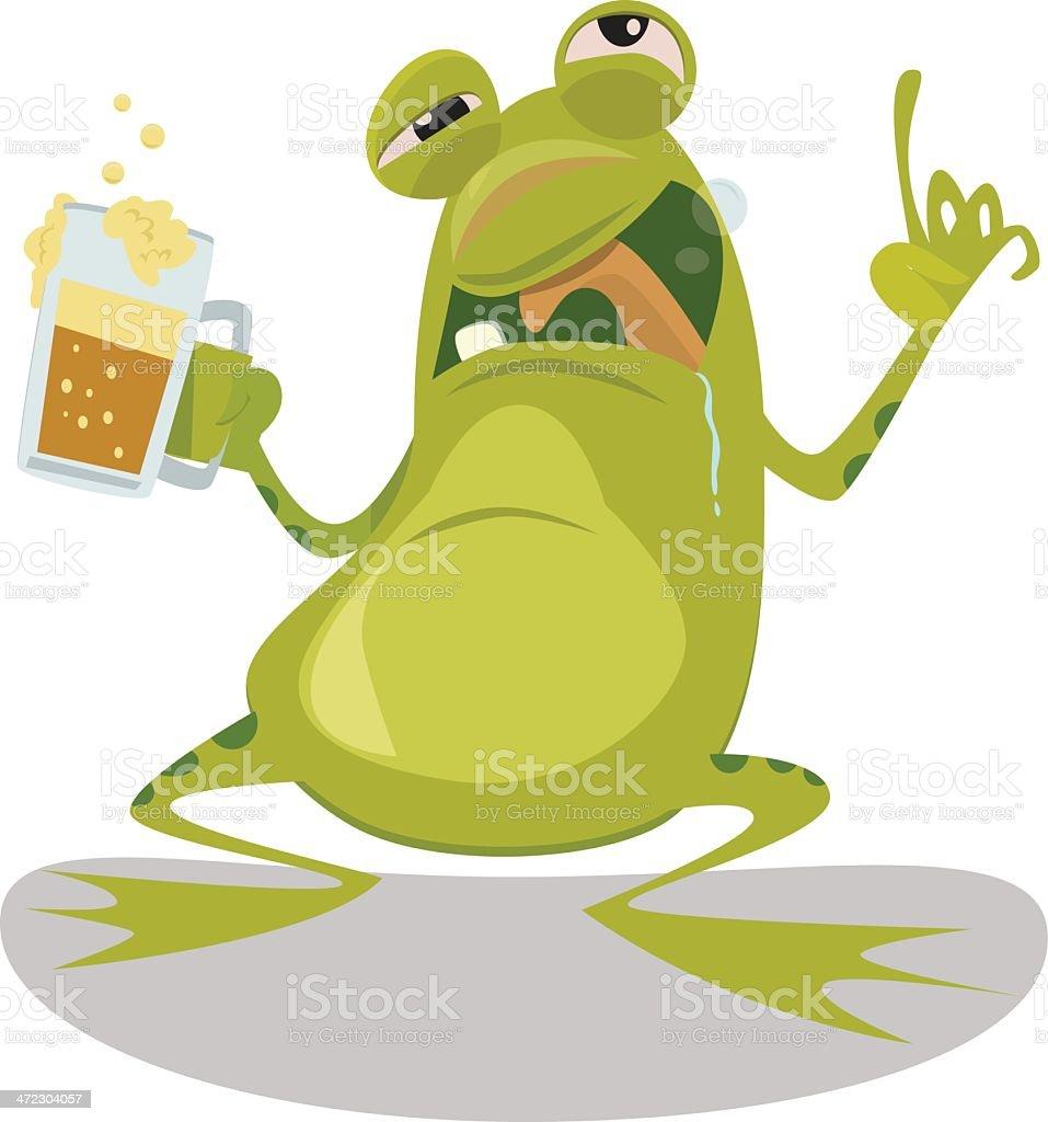 Drunk Frog royalty-free stock vector art