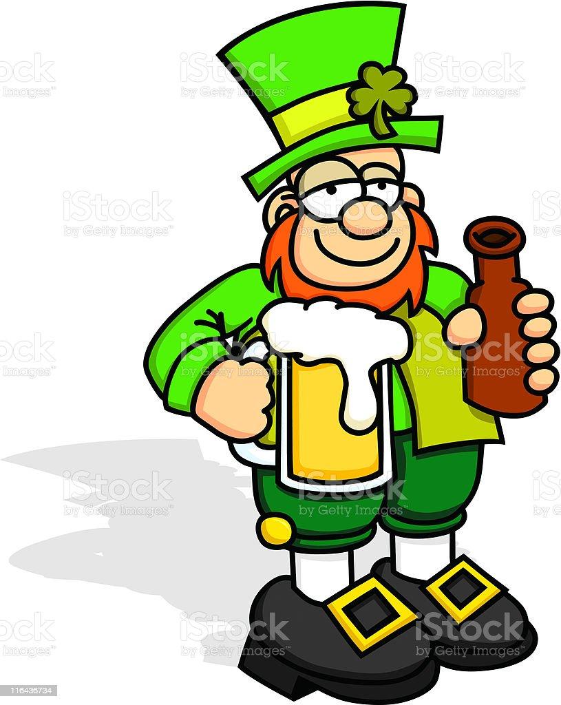 Drunk Leprechaun royalty-free stock vector art