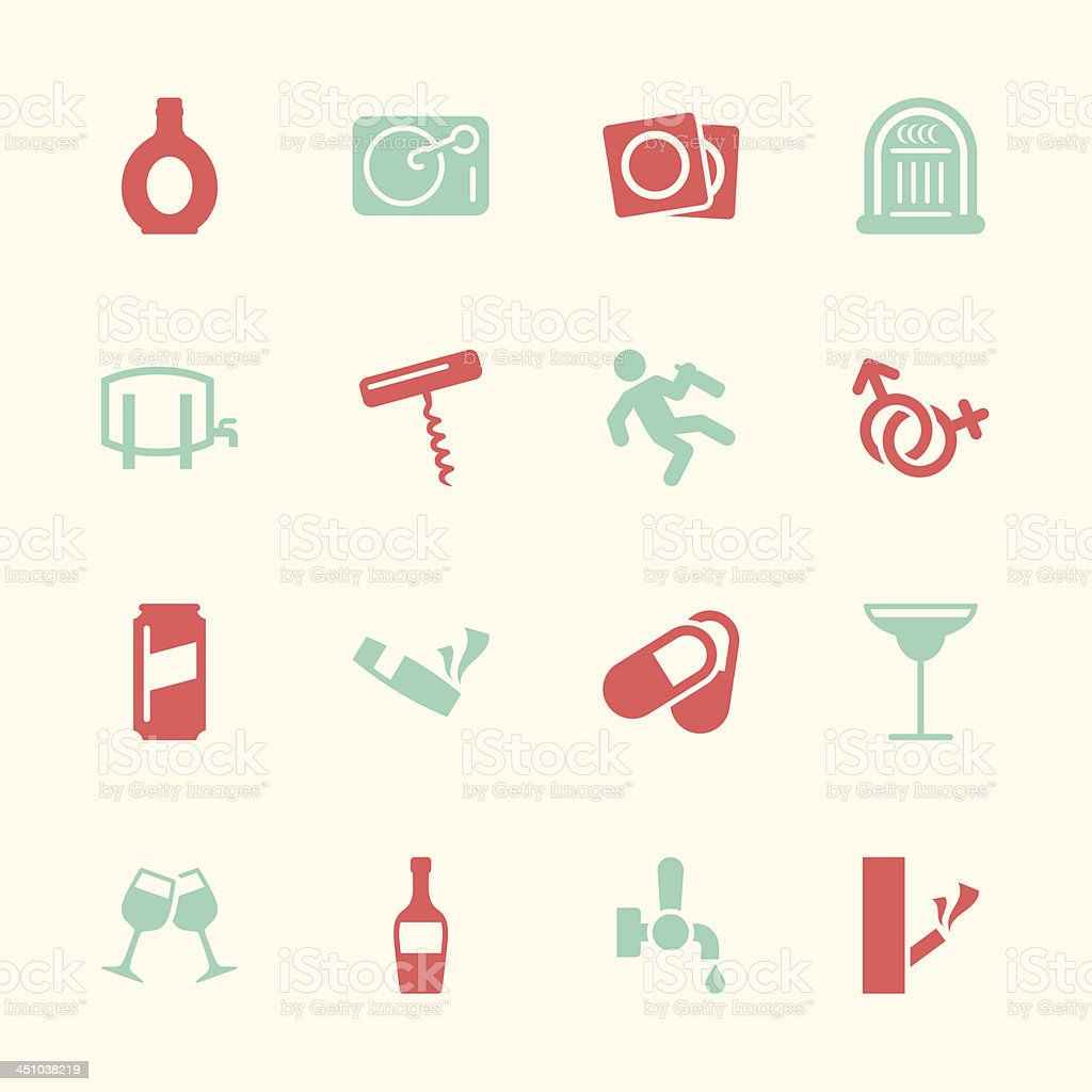 Drunk Party Icons Set 2 - Color Series | EPS10 vector art illustration