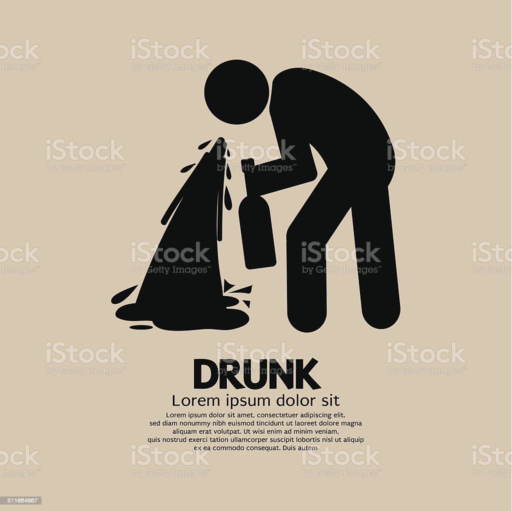 Drunk Person Graphic Symbol Vector Illustration vector art illustration