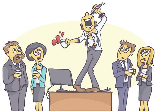 Cartoon Of Funny Karaoke Clip Art, Vector Images ...