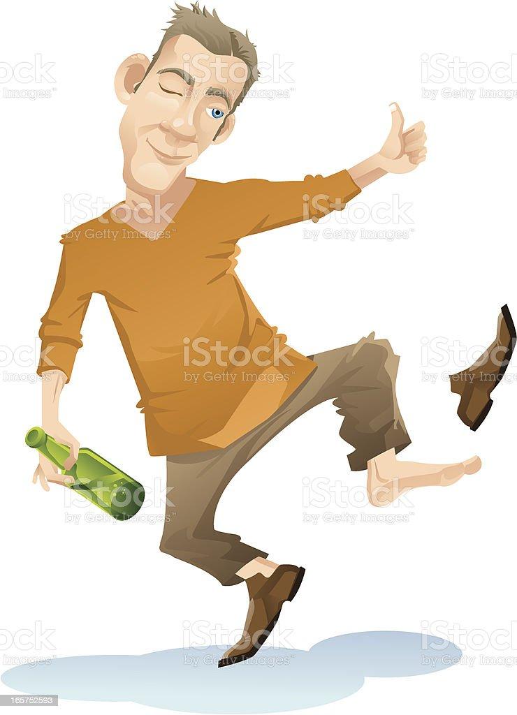 Drunken royalty-free stock vector art