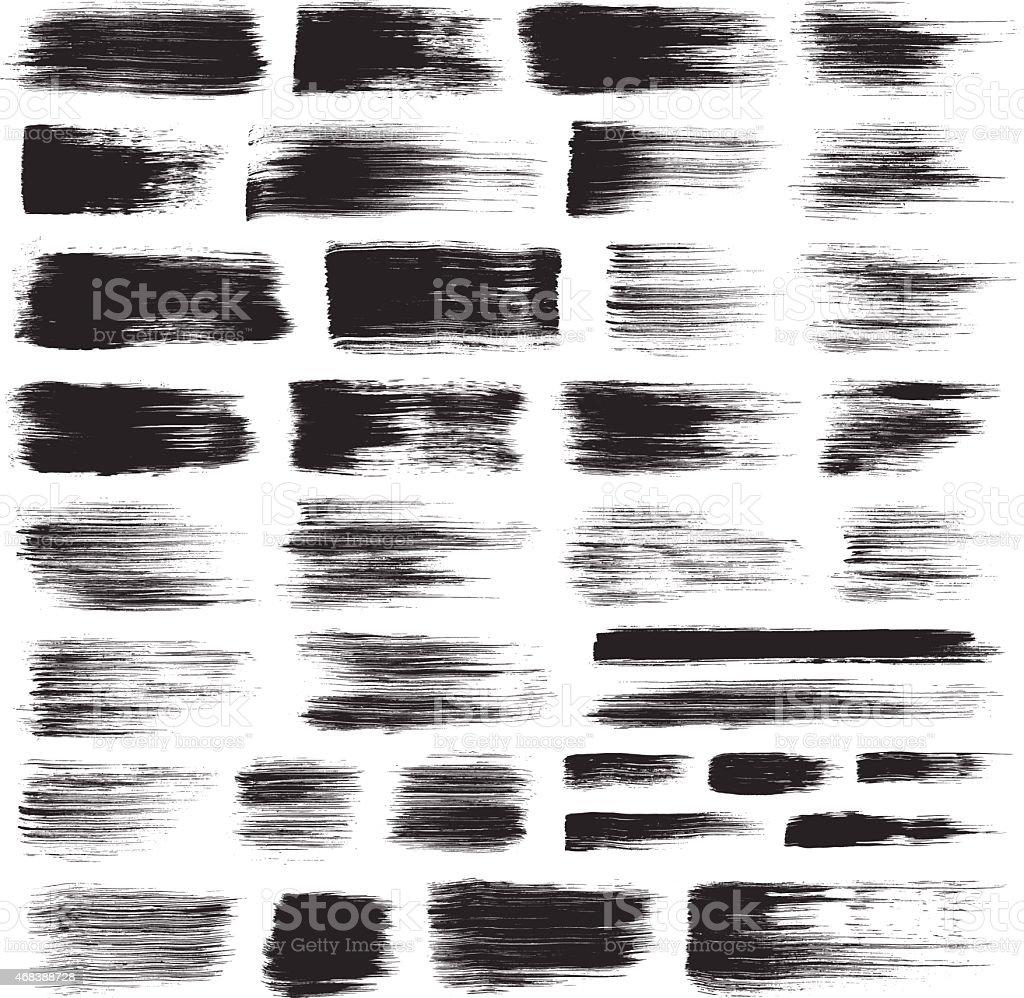 Dry Brush Strokes vector art illustration