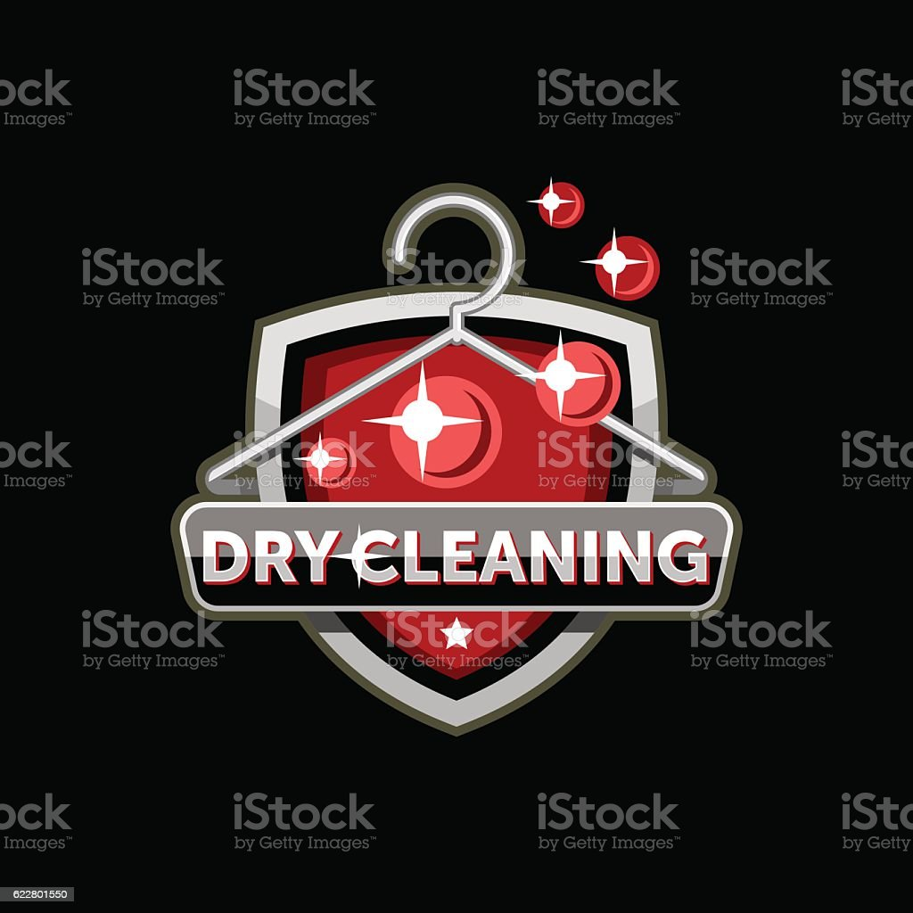 Dry cleaning logo template vector art illustration