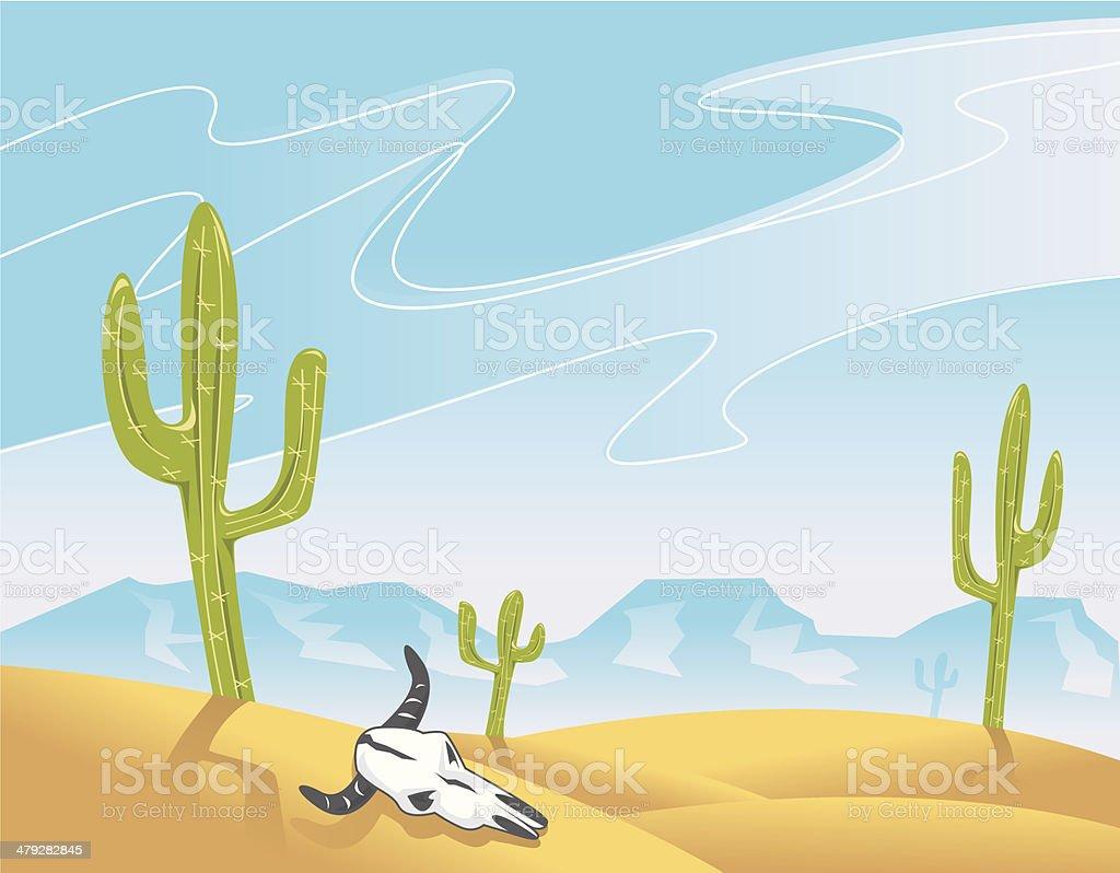 Dry Land vector art illustration