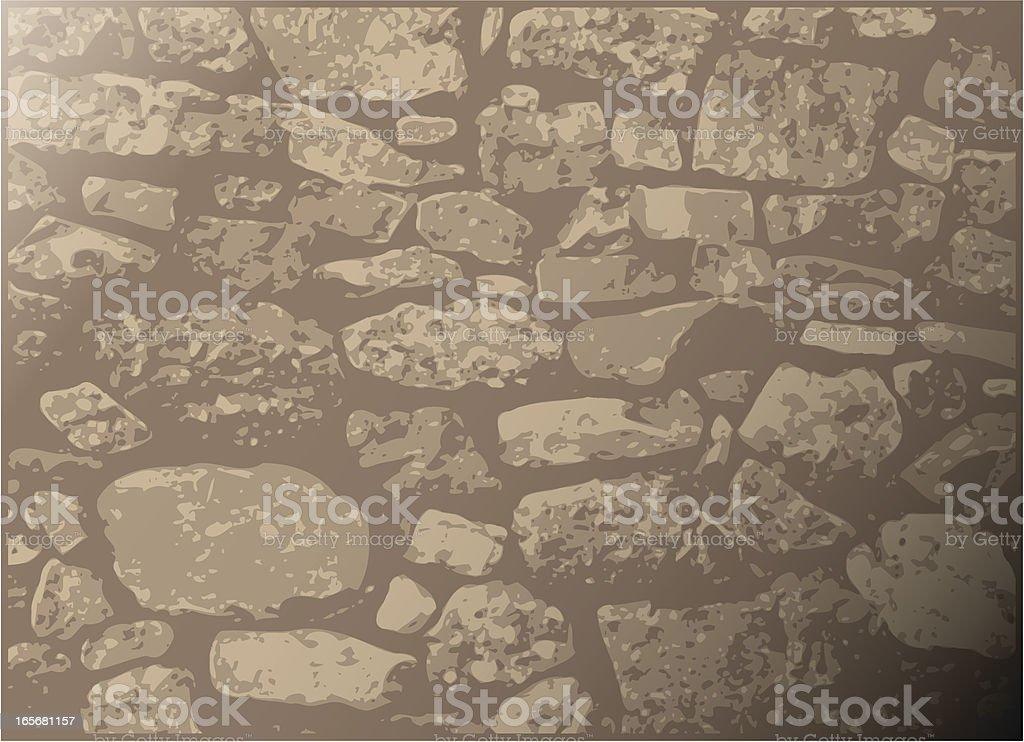 Dry-stone wall royalty-free stock vector art
