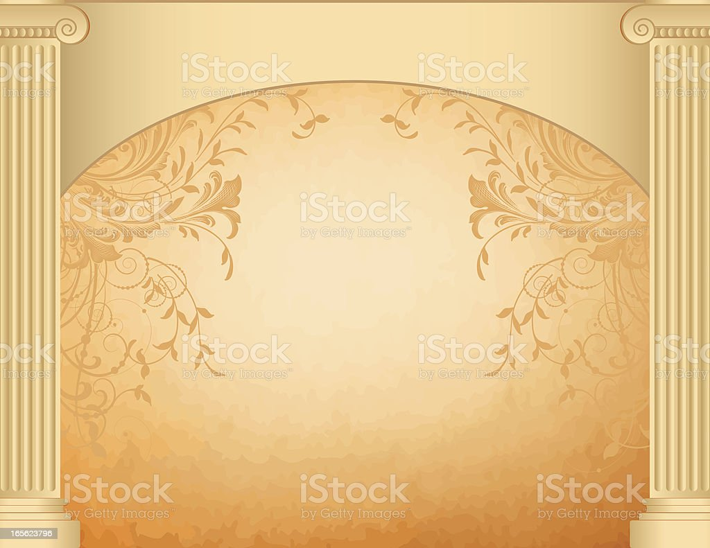 Dual Columns and Banner royalty-free stock vector art