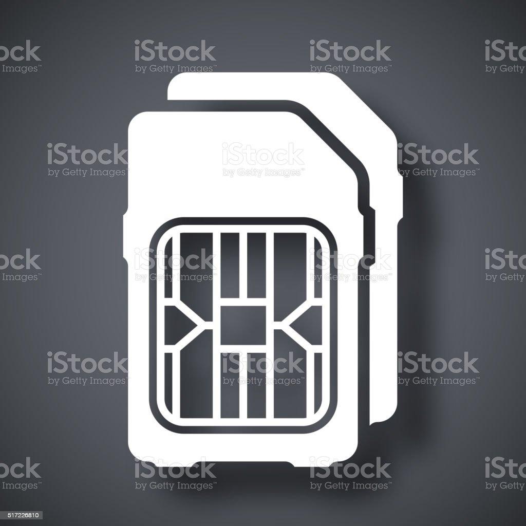 Dual SIM cards icon, vector vector art illustration