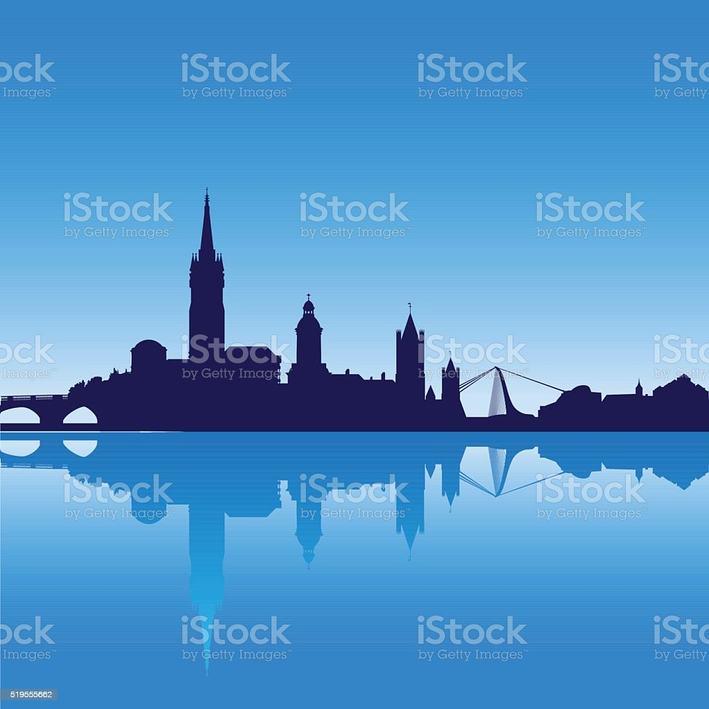 Dublin city skyline silhouette vector illustration vector art illustration