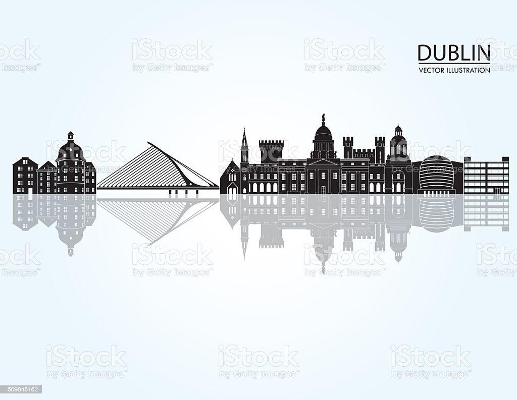 Dublin skyline. Vector illustration vector art illustration