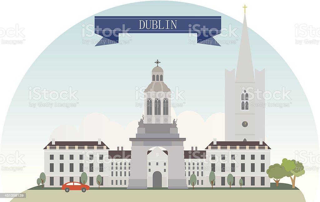 Dublin vector art illustration